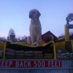Jax from atop the Hemlock FD truck!